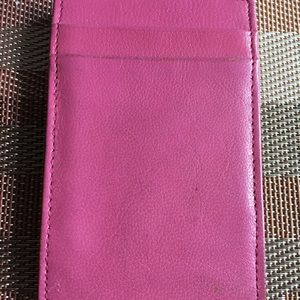 Vintage Leather J. Crew Flip Wallet/Card